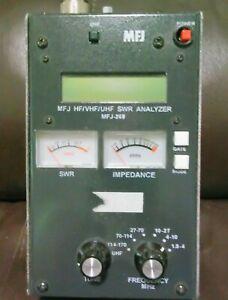 MFJ-269 HF/VHF/UHF SWR  Analyzer Frequency Counter Ham Radio Antenna SOLD AS IS