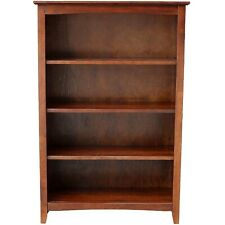 """Mission Craftsman Shaker 4 Shelf 48"""" Solid Hardwood Bookcase"""