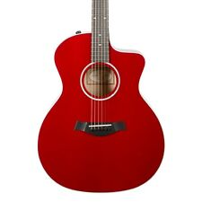 Taylor Guitars 214ce Red DLX Acoustic- Electric Guitar wih OHSC