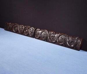 *French Antique Highly Carved Architectural Trim Panels in Solid Oak Salvage