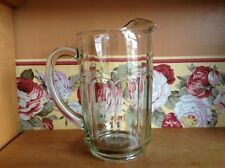 Heavy paneled Depression glass 5 cup pitcher with ice lip