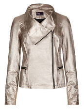 Marks and Spencer Women's Leather Zip Casual Coats & Jackets