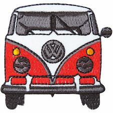 New Red VW Van Bus Volkswagen Car Camper Peace 70's Hippie Iron on Patches #1795