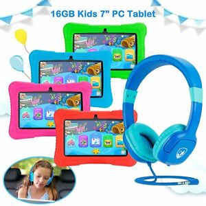 """7"""" Tablet PC 16GB Android 8.1 Wifi Quad Core Educational Apps Best Gift For Kids"""