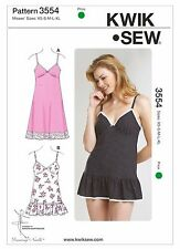 Kwik Sew Sewing Pattern K3554 Size XS-XL Misses Slip Panties Camisole Lace Trim