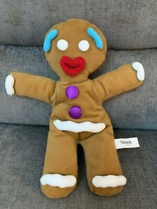 """Shrek The Musical Gingy Gingerbread Man Hand Puppet 13"""" Soft Toy 2014"""