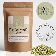 1000g Weißer Pfeffer ganze Pfefferkörner weiß plastikfrei verpackt JKR Spices