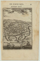 Stadtplan von ALEXANDRIA Original Stadtansicht um 1680 Leuchtturm Pharos ÄGYPTEN