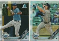2019 BOWMAN DRAFT CHROME Jake Guenther Greg Jones Tampa Bay Rays 2 CARD LOT