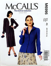 MCCALL'S SEWING PATTERN JACKETS 2 DESIGNS FROM 1933 ARCHIVE SIZE 6-14 # M6995