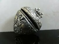 GORGEOUS ANTIQUE VICTORIAN PUFFY HEART Sterling Siver PILL BOX Locket Pendant