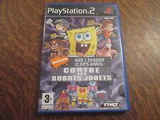 jeu playstation 2 bob l'eponge et ses amis: contre les robots-jouets