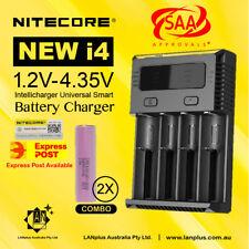 Nitecore New I4 Battery Charger +2X Samsung 30Q 18650 li-ion Battery 3000mAH 15A