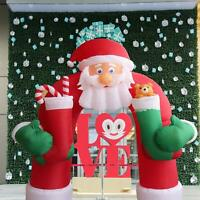 11 Foot Tall Lighted Christmas Inflatable Santa Archway Yard Art Decoration