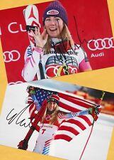 Mikaela shiffrin - 2 top autógrafo imágenes (24) - Print copies + ski ak firmado