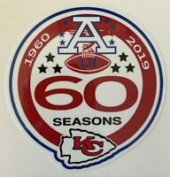KANSAS CITY CHIEFS 60TH ANNIVERSARY DECAL VINYL STICKER NFL FOOTBALL 1960 - 2019
