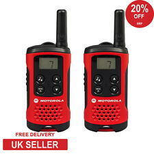 4km Motorola TLKR T40 2 vías Walkie Talkie Set PMR 446 Compacto Radio Kit-Twin