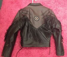 Ladies Size 10 Force leather Motorcycle Riding Jacket