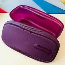 NEW Tupperware 2 Pc Microwave Multi Cooker Steamer Set Purple