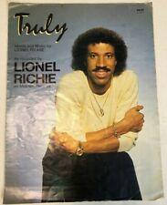 """Vintage Collectible Lionel Richie """"Truly"""" Sheet Music"""