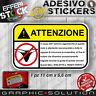 Adesivi Stickers Pegatinas MUTANDINE TANGA ATTENZIONE WARNING STRIP MOTO BIKE