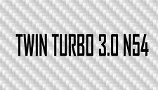 BMW n54 TWIN TURBO 3.0 335 Sticker x2