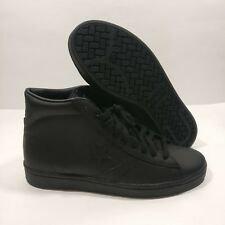 Mens Converse Pro Leather 76 Mid Mono Black Shoes Size 8.5 Womens 10 (155334C)