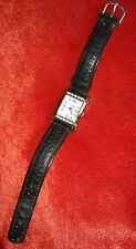LIMIT WATCH Square Quartz Ladies stainless steel back faux leather strap repair