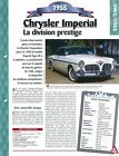 Chrysler Imperial 1955 USA Car Auto FICHE FRANCE