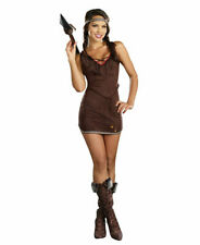 Native American Beauty Adult Women's Costume Brown Suede Indian