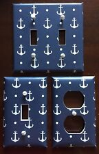 Anchors Light Switch Cover Plate Nautical Decor Navy Coastal Beach Summer