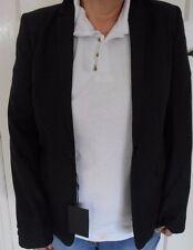 Bruuns Bazaar Copenhagen Black 100% Wool Ladies Blazer Size 40