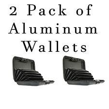 2 Pack Aluminum Wallet Black Hard Case RFID Blocking Credit Card Holder Protect