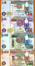 SET, Zambia, 2;5;10;20 Kwacha, 2012 (2013), P-New, UNC > First Prefixes