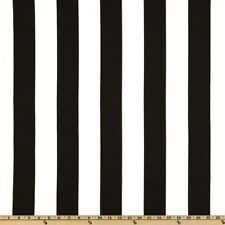 "Black and White 2"" Deck Stripe OUTDOOR Fabric - Fabric by the Yard"