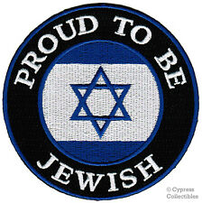 PROUD TO BE JEWISH iron-on embroidered RELIGIOUS BIKER PATCH ISRAEL FLAG STAR