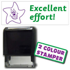 ST100 - Pre-Inked Excellent Effort 2 colour Classroom Resource Stamper