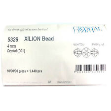 1440pc Swarovski 5328 / 5301 4mm FULL PACK Crystal Clear Xilion Bicone Beads NEW