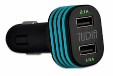 TUDIA 3.1A Dual Port USB High Speed Simultaneous Car Charger Adapter
