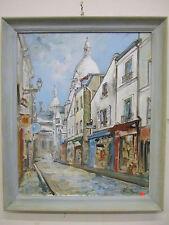 """Paris Montmartre"" oil on canvas, listed artist Irek T. Szelag"