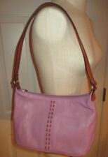 Fossil Pebbled Purple with Brown Trim Under Arm Handbag Purse #75082