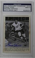 GORDIE HOWE SIGNED 2011 PARKHURST CHAMPIONS #103 PSA/DNA AUTHENTIC MINT 9 AUTO