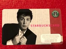 RARE Starbucks Card 2007 Paul McCartney - New MINT Old logo