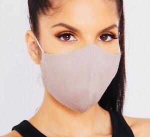 3 x Face Mask Protective Covering Washable Reusable Lightweight Breathable