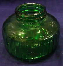 Vintage Green Glass Ink Well Made in USA