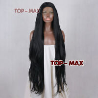 Long Wavy Black Fashion 34 inches Hot 85CM Lace Front Hair Heat Resistant Wig