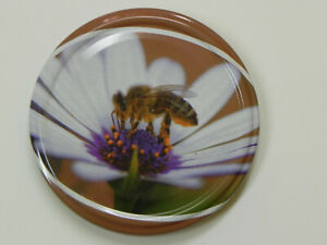 10 Twist off Deckel TO82 -Biene + Blume-,Imker.Imkerei,Honigglas-Deckel