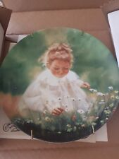 Spring Innocence Donald Zolan Collector Plate 8 1/2 Inch Numbered Certificate Pe