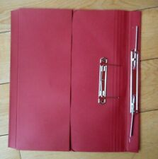Red Pocket Transfer Spring Spiral Files 38mm Foolscap 450gsm Various Quantities