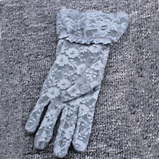W UK Womens Gloves Driving Motorcycle Gloves UV Sun Protect Lace One Size Hot
